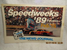 1989 Daytona FL News-Journal Newspaper Poster W/Richard Petty Crash Daytona 500
