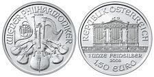 2008 Austria Vienna FILARMONICA 1,5 EURO.999 argento 1oz oncia silver