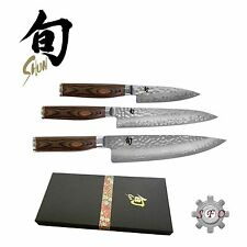 Shun Premier 3 Piece Knife Set Gift box Pairing Utility Chef Made in Japan