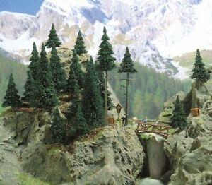 Set Mountain Trees Bridge & Accessories H0 Scale 1:87 Diorama Model Busch