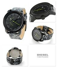 DIESEL FALL 2014 MEN'S 46MM GREY CLOTH STAINLESS STEEL CASE ACRYLIC WATCH DZ1664