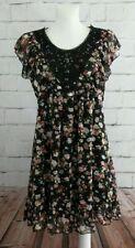 Geblümte Damenkleider mit Rundhalsausschnitt Yumi
