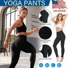New listing TikTok Women Yoga Pants Leggings High Waist Anti Cellulite Butt Lift Gym Fitness