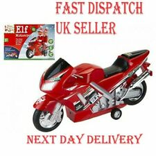 CHEEKY ELF Christmas FRICTION POWERED Fun MOTORBIKE