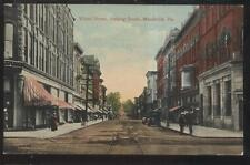 POSTCARD MEADVILLE PA/PENNSYLVANIA WATER STREET BUSINESS STORE FRONT 1907