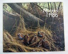 Vintage 1986 2014 Brown and Bigelow Hoyle David Maass Calendar 1
