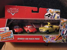 DISNEY CARS RADIATOR SPRINGS CLASSIC 3-PACK  DINOCO 400 RACE FANS TRU EXCLUSIVE
