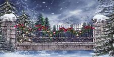 Snowy Xmas 20'x10' CP Backdrop Computer printed Scenic Background XLX-117