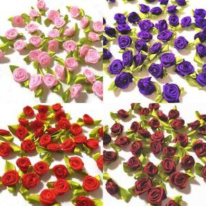 40x Diorröschen mit Blätter Satinröschen Streublüten Satinröschen Dekorosen