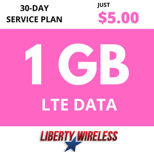 $5.00 Liberty Wireless Phone Plan: 1GB of 4G LTE Data Monthly