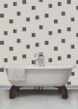 Negro, Gris, Blanco Y Plata, Mosaico efecto, Rubik Wallpaper por Holden Decor