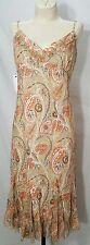Tahari Size 8 Dress Linen Floral Print Sundress Lined Midi Sleeveless NWT Resort