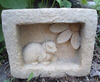 "Latex rabbit mold 5"" x 4"" x 1.5""  plaster cement mould"