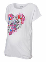 MAMALICIOUS MATERNITY FLORAL HEART PRINT T-SHIRT TOP SIZE S UK 8-10 BNWT RRP £18