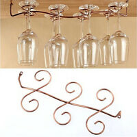 6/8 Wine Glass Rack Stemware Hanging Under Cabinet Holder Bar Kitchen Screw new.