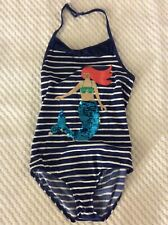 Mini Boden Girls 1 Piece Mermaid Themed Swimming Suit, Size 9-10U. NWT