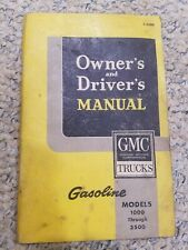 1963 Gmc Truck Owner'S Manual Original 1500-3500