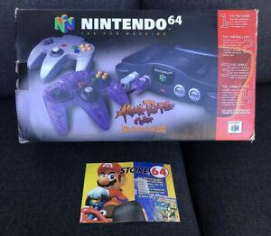 Nintendo 64 Atomic Purple BOX AND INSERT ONLY Kobe Bryant
