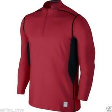 543596-652 New with tag Nike Pro Men's 1/4 zip Hyperwarm Fitted Shirt Red