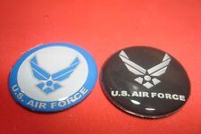 """#2 (Two) Different U.S.A.F. * United States Air Force Multi-Color 1"""" Magnets."""