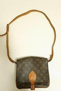 Authentic Louis Vuitton Cartouchiere MM Shoulder bag brown #7484