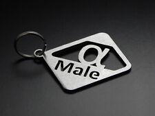 """Schlüsselanhänger """"alpha Male"""" Alphamann Alpha hochwertiger Edelstahl gebürstet"""