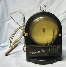 Two Mid-Century Tempscribe 24 hour Temperature Recorders - indoor and outdoor