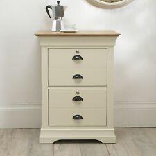 Edmund Oak Home Office Furniture Cream Painted Lockable Foolscap Filing Cabinet