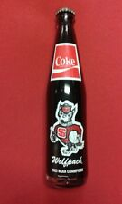 NC State Wolfpack National Champions 1983 Coca Cola Bottle 10oz  Cardiac Pack