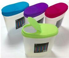 4 x 3L Distributeur de céréales store boîte de stockage couvercle cuisine aliments Pâtes Riz conteneur