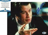 JOHN TRAVOLTA SIGNED 'PULP FICTION' VINCENT 8x10 MOVIE PHOTO 7 BECKETT BAS COA