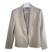 Antonio Melani Womens Blazer Suit Jacket Coat Beige Stretch Work Ladies Size 10