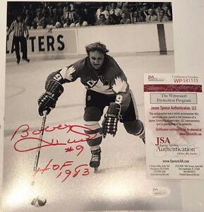 BOBBY HULL AUTOGRAPHED SIGNED INSCRIBED CANADA 8x10 PHOTO JSA COA