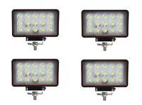 4x 15 LEDs Arbeitsscheinwerfer 12V 45W Arbeitslampe E-Prüfzeichen Scheinwerfer
