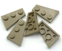 Lego New Dark Tan Wedges Plates 3 x 2 Right Pieces