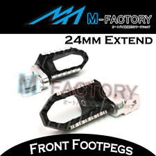 For Kawasaki GPZ900R 84-91 92 93 CNC BLACK Front Foot Pegs Touring 24mm Extended