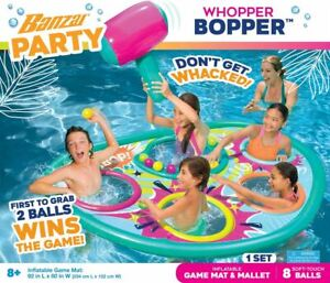 BANZAI Whopper Bopper Summer Party Floating Pool Game Mat Swimming Float Water T