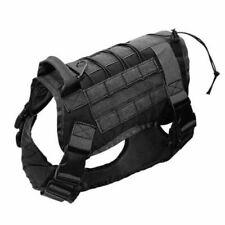 NEW Tactical K9 Training Dog Harness Military Police Adjustable Nylon Vest