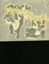 Rock And Roll full size vintage 70s iron on t shirt transfer Nos