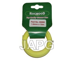 1.6mm x 15m Professional Quality Strong Nylon Grass Trimmer Strimmer Line, 1.5mm