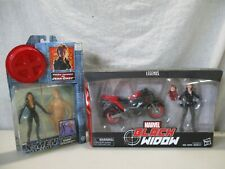 2 VINTAGE MARVEL SELECT SUPER HEROES BLACK WIDOW & XMEN TOYS IN GREAT CONDITION