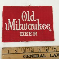 """Vintage Old Milwaukee Beer Patch - Large - 7"""" x 5"""" - USA - FAST SHIPPING"""