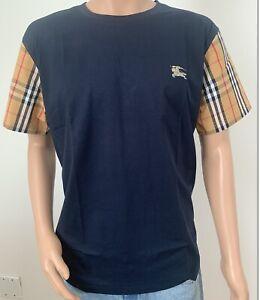 New Burberry Men's Plaid Sleeve  Shirt Size M,L,XL,XXL