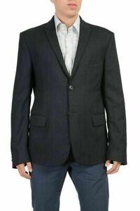 Exte Men's Gray Wool Two Button Blazer Size US 42 IT 52