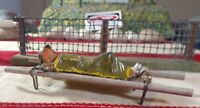 Vintage Barclay Manoil Toy Soldier 1 Wounded Soldier with Blanket 1 Stretcher!!!