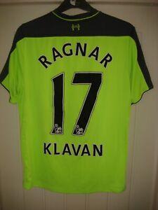 LIVERPOOL FC 3RD RAGNAR KLAVAN #17 FOOTBALL SHIRT - 2016/17 - MEDIUM ADULT - H13