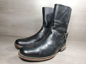 Cole Haan Side Zip Buckle Mens Boots Sz 9m (c1