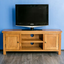 Surrey Oak Large TV Stand / Solid Wood Plasma TV Unit / Rustic Oak Cabinet /New