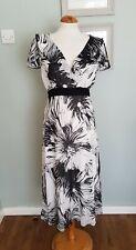 BHS Vintage Inspirado Floaty Vestido De Té Floral Boho Gitana/UK 14 formal/40S/50S/TEA