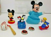 7 PIECE COLLECTIBLE TOY LOT DISNEY MICKEY MOUSE PLUTO AND MORE